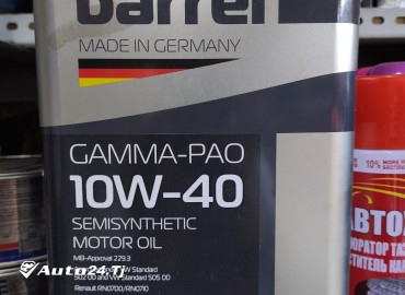 Моторное масло Barrel 10w-40 made in Germany
